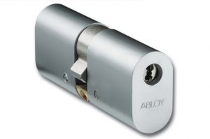 Oval abloy lock