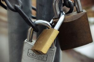 Padlocks Closeup
